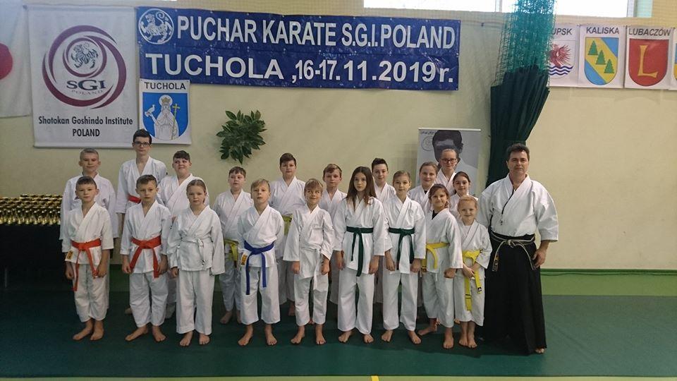 "MUKKT ""FUDOKAN"" z Krzyża Wlkp. na Pucharze Polski Karate S.G.I."