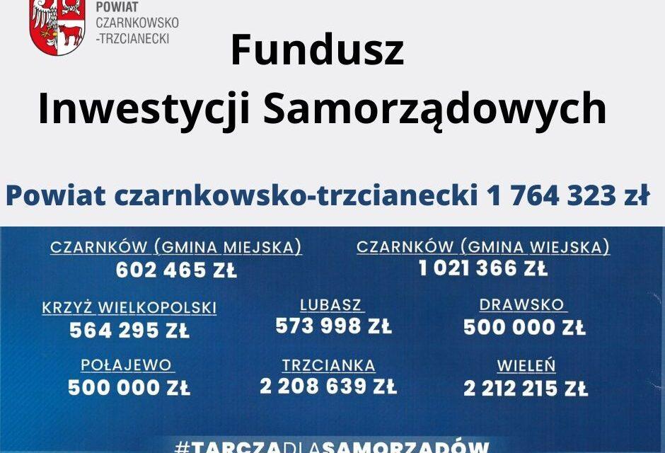 Gmina Krzyż Wielkopolski dostanie 564 295 zł od Rządu.