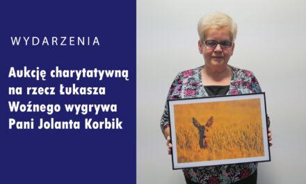Aukcję charytatywną na rzecz Łukasza Woźnego wygrywa Pani Jolanta Korbik