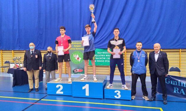 Artur Lemieszka Wicemistrzem Wielkopolski w tenisie stołowym