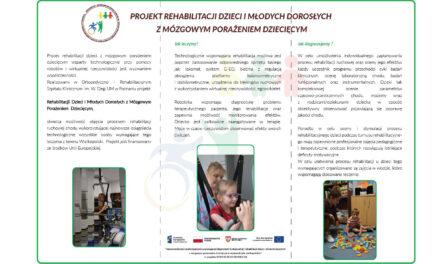 Projekt rehabilitacji dzieci i młodych dorosłych z mózgowym porażeniem dziecięcym
